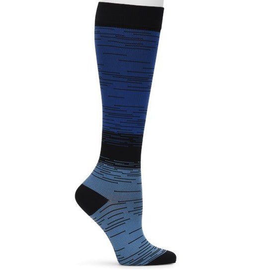Blue support sock