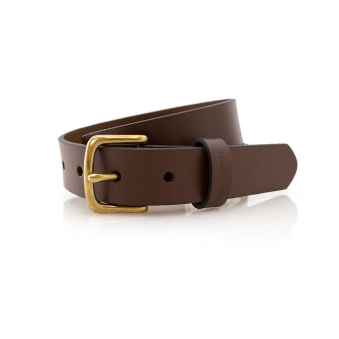 Brown leather belt for boys