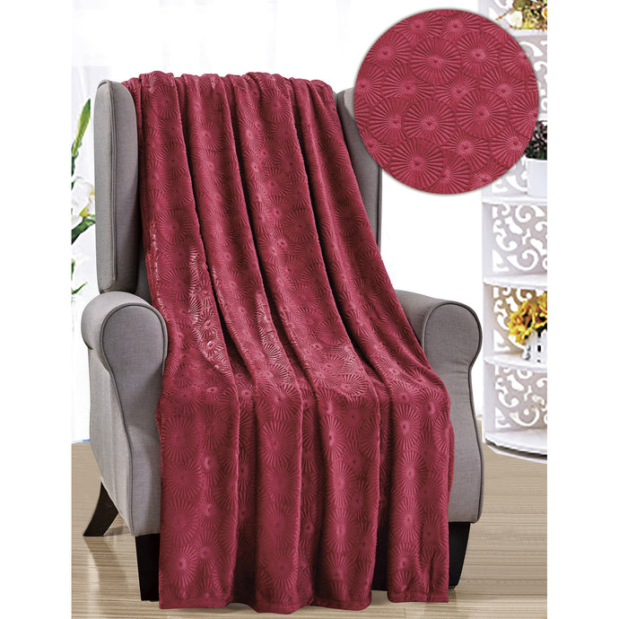 Burgundy throw blanket
