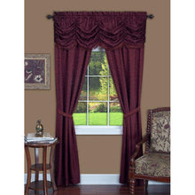 Burgundy curtains