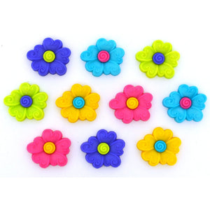 Floral fun buttons