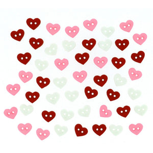 Assorted color heart buttons
