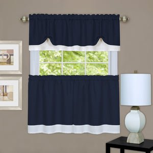 Navy Tier & Valance Set.