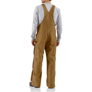 BRN Back View of Carhartt Men's Duck Unlined Overalls Zip-to-Thigh R37