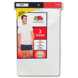 Fruit of the Loom Men's crew T-shirts 3 in pack