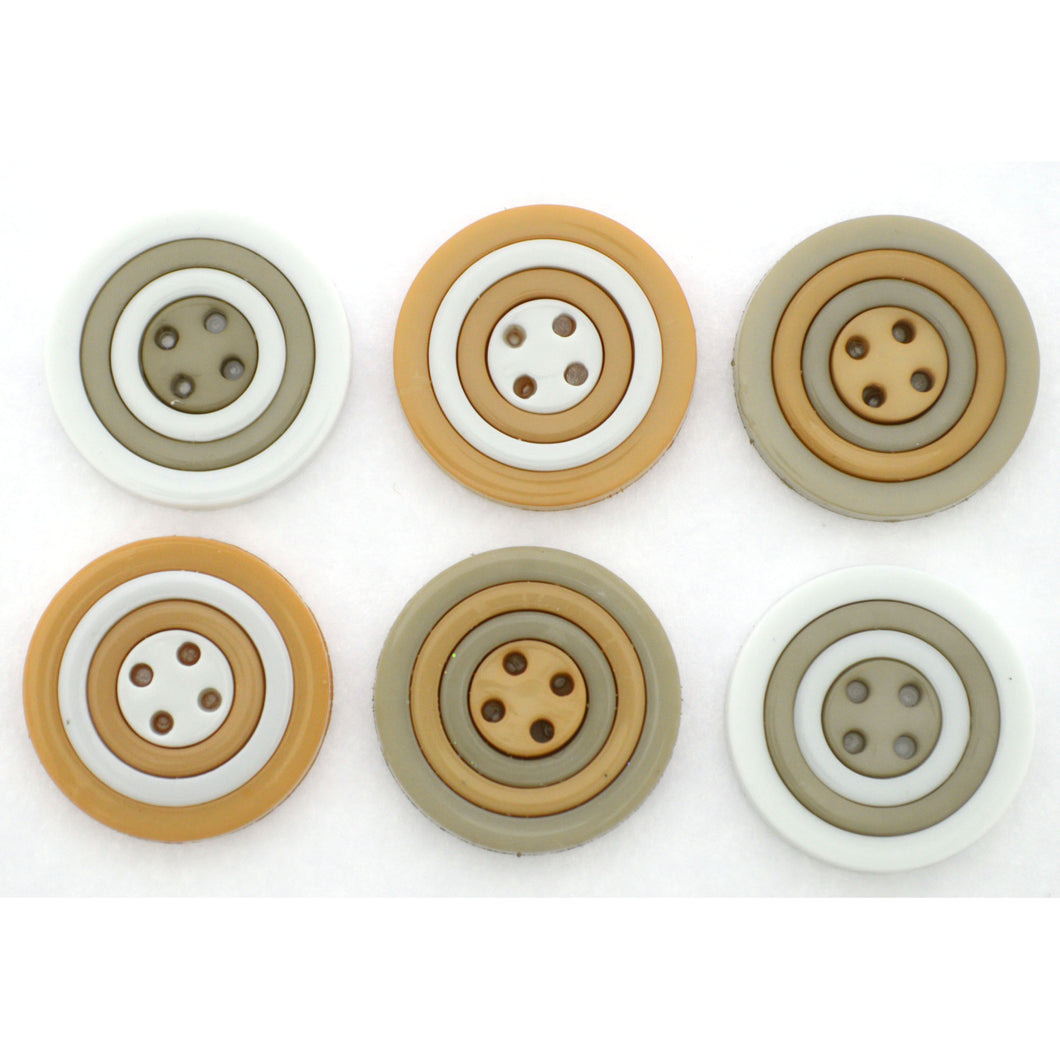 BUTTON CIRCLES SOFT GREY