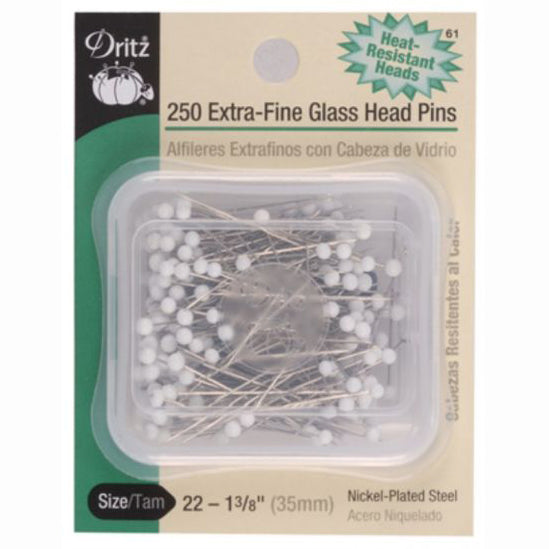 Dritz Glass Head Pins S-61
