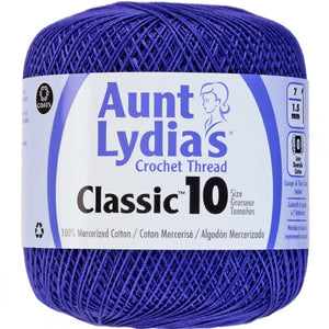 Violet Aunt Lydia's crochet thread.