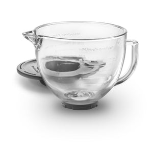 Glass mixer bowl