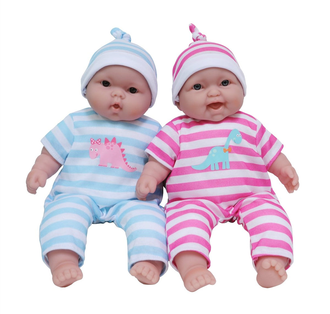 JC Toys Lots to Cuddle Twin Babies 13 Inches 35024