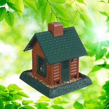 North States Log Cabin Birdhouse Outdoors