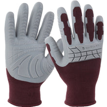 Women's Carhartt works gloves WA699 dusty plum color.