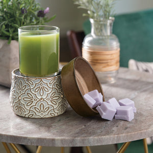 Bronze Floral 2-in-1 Classic Wax Warmer DWDFLR