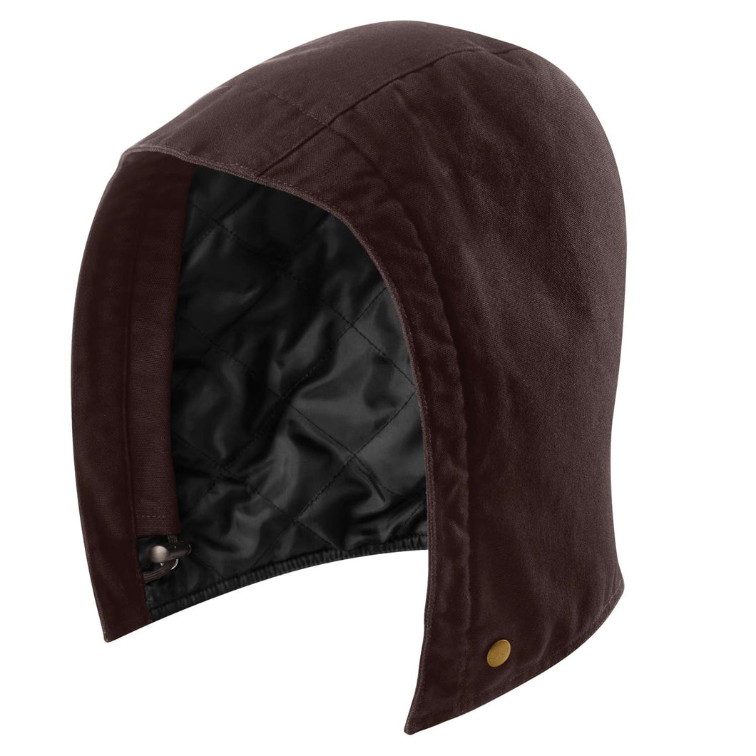 Quilted nylon lined hood