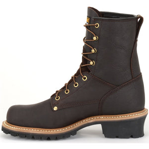 Carolina Elm Steel Toe Logger Boot instep view