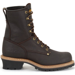 Carolina Elm Steel Toe Logger Boot in profile