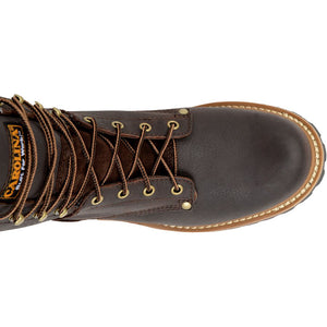 Carolina Elm Steel Toe Logger Boot top view