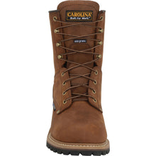 Carolina mens 8 inch insulated steel toe logger toe view