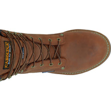Carolina mens 8 inch insulated steel toe logger top view