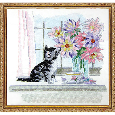 Cat with Vase kit