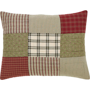 Prairie Winds Sham Pillow patchwork.