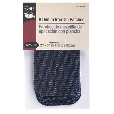 Order dark denim iron-on patches here.