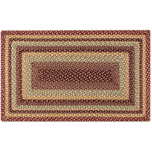 Capitol Earth Rugs rectangular Cranberry & Buttermilk color rug.