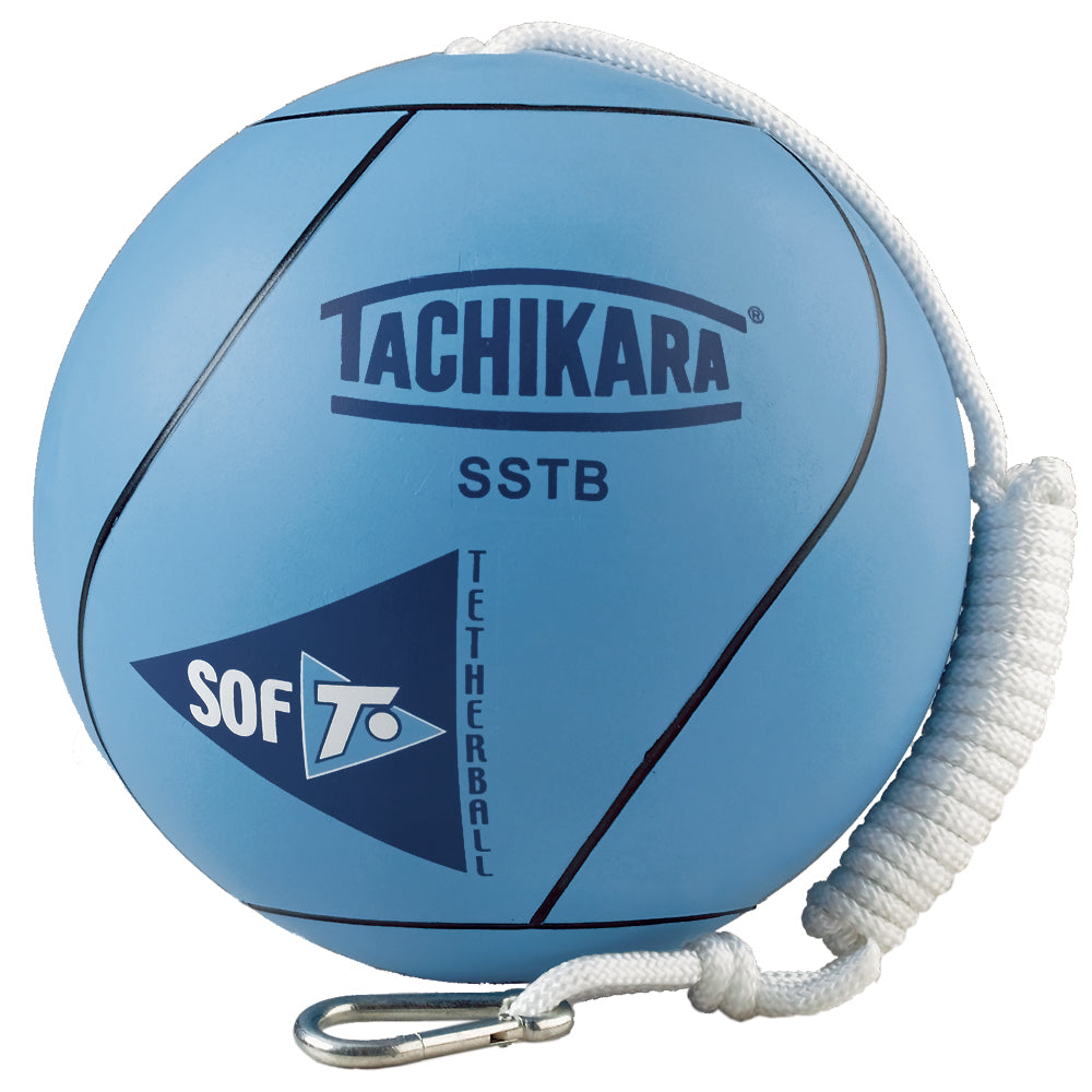 Tetherball with nylon rope.