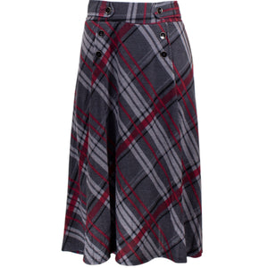 Charcoal gray plaid skirt