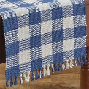 China blue table runner