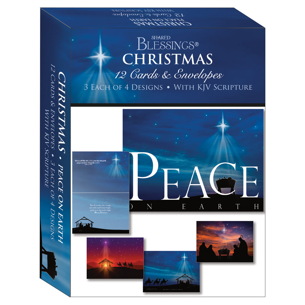 christmas boxed cards peace on earth