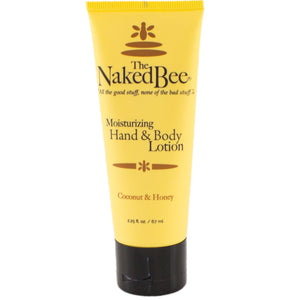 tube of naked bee coconut and honey hand and body lotion