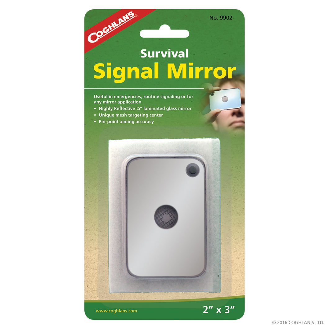 Survival signal mirror