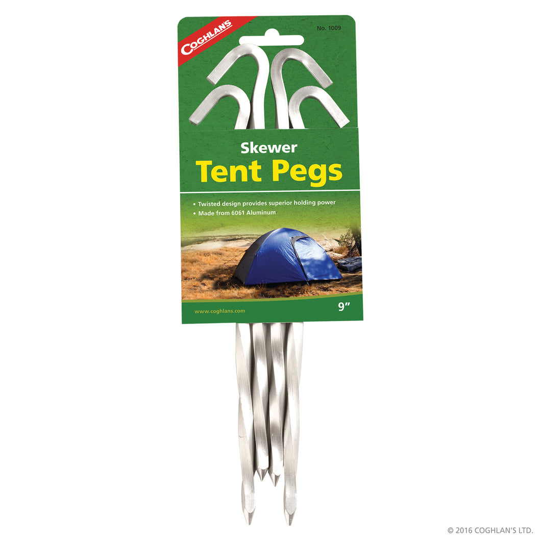 Shewer tent pegs