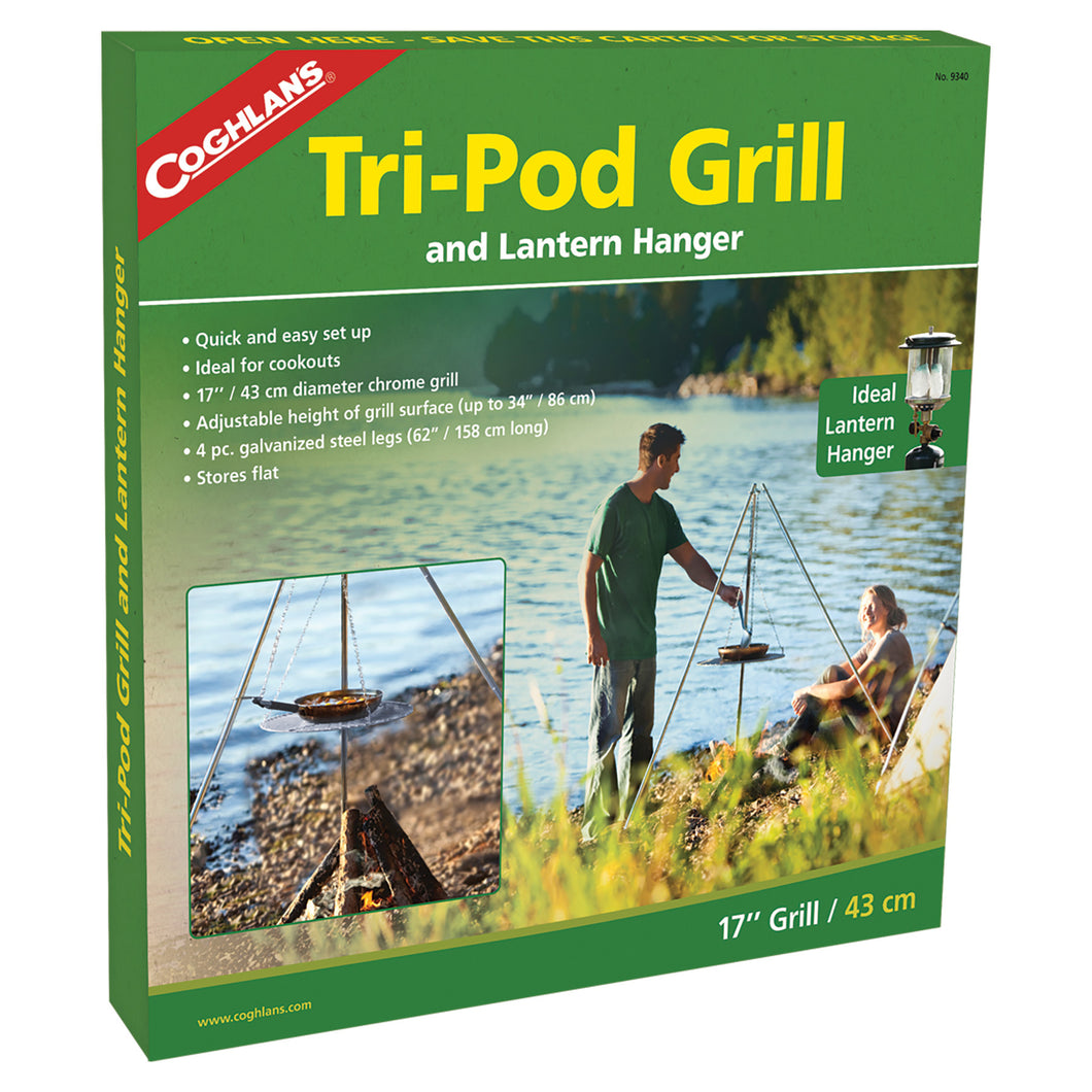 Tripod grill for campfires