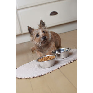 Cream mat for pet dishes