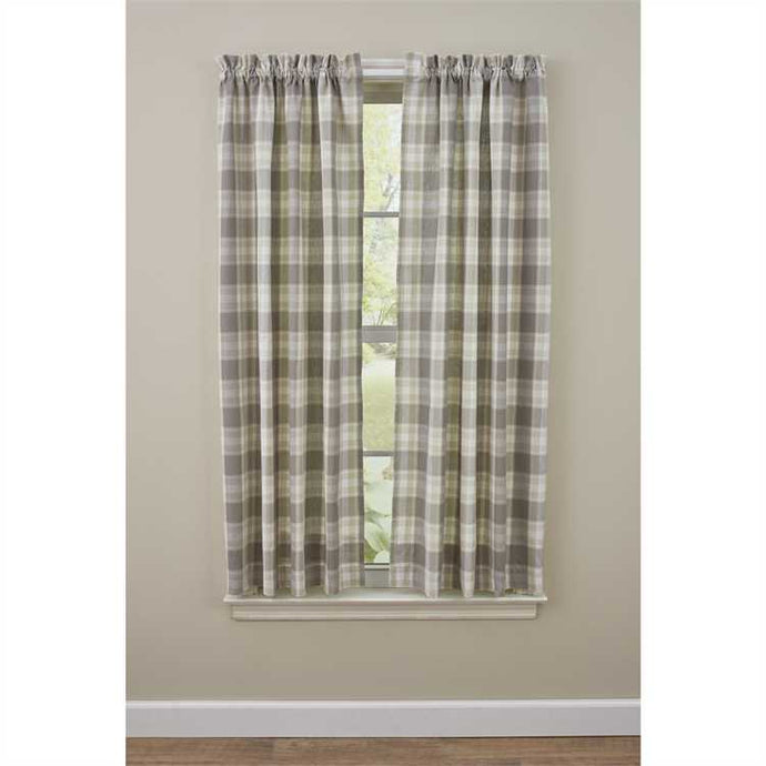 Gray plaid curtains