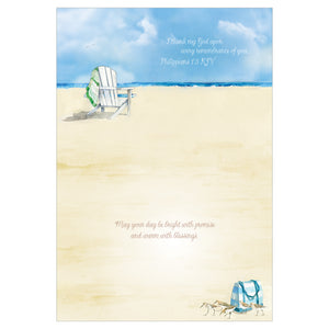 Inside of beach chairs card.