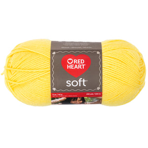Lemon yellow Red Heart yarn.