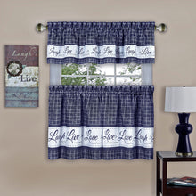 Navy curtain set
