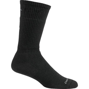 Darn Tough socks, black crew sock.