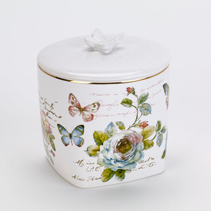 Ceramic butterfly jar.