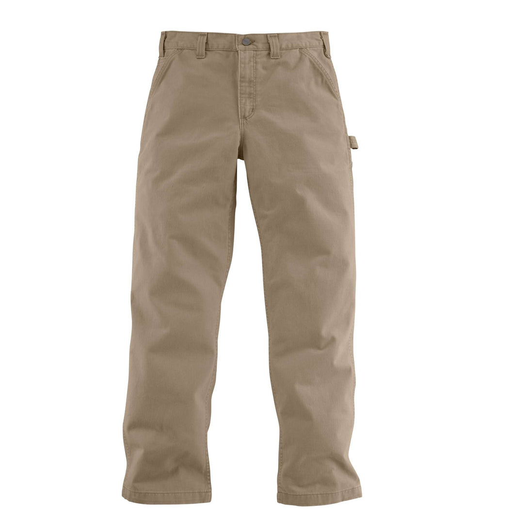 Men's Carhartt work pants, front.