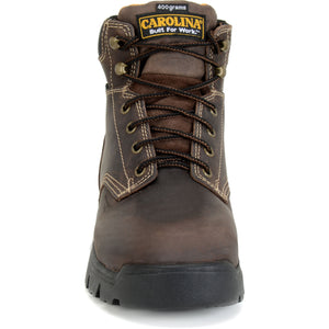 Front view, Carolina work boot, composite toe.