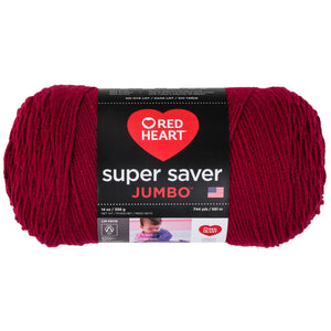 Burgundy Red Heart Super Saver Jumbo.