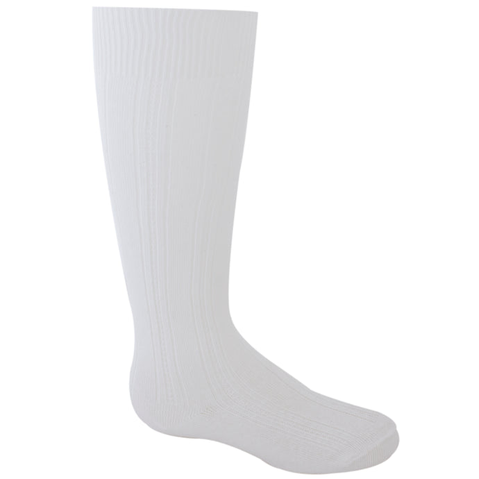 White girl's knee high sock.