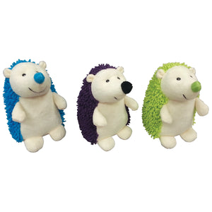Giggler plush hedgehog dog toys.