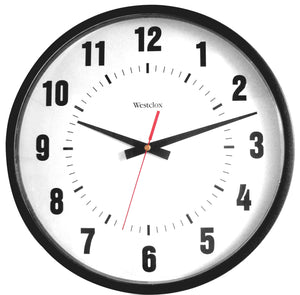 Westclox Commercial Wall Clock