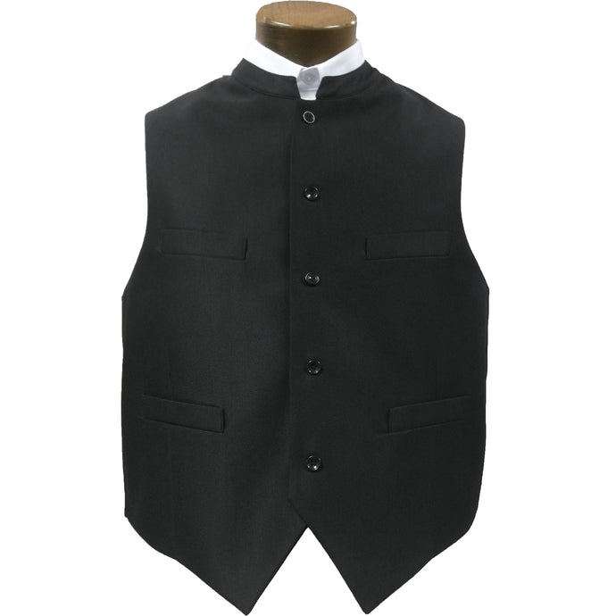 clerical vest black