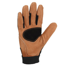 Carhartt The Dex II men's work gloves, palm view.
